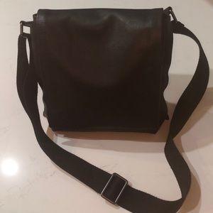 Men's Skagen Black Leather Messenger Bag